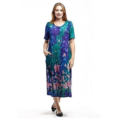 3a263b1dbd2ea Image Unavailable. Image not available for. Color  La Cera Pleated Dress  Plus Size