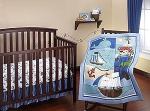 Little Bedding 3 Piece Comforter Set, Baby Buccaneer