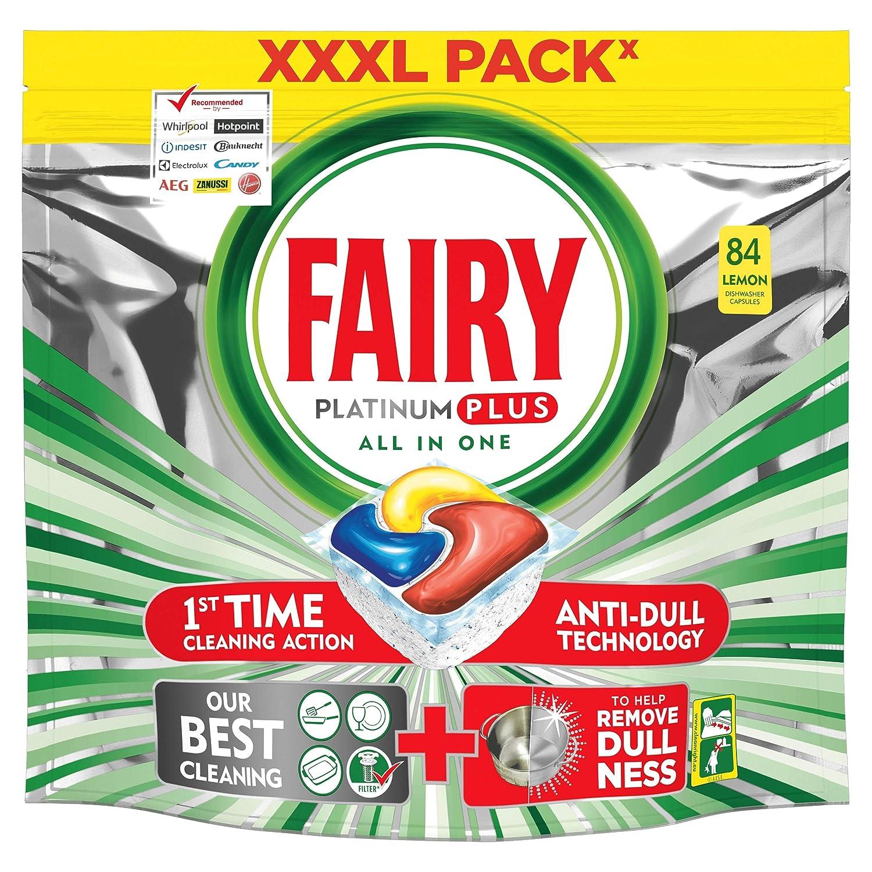 Fairy Platinum Plus – Pastillas para lavavajillas todo en uno, 84 ...
