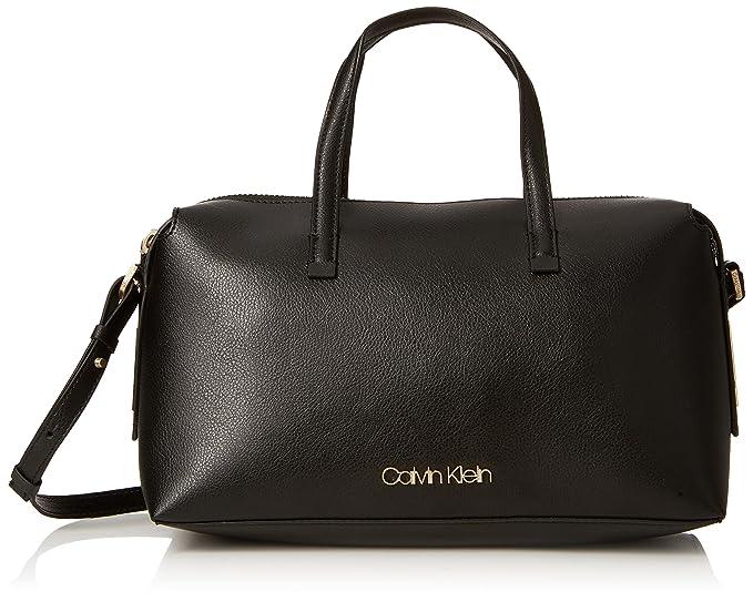 Calvin Klein Jeans - Frame Duffle, Carteras de mano con asa Mujer, Negro (