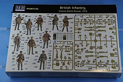 Somme Battle Period 5 Fig 1916 Master Box MB 1//35 35146 WWI British Infantry