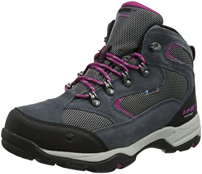 f750b30e4e22 Hi-Tec Women s s Storm Waterproof High Rise Hiking Boots Graphite Cool  Grey Boysenberry