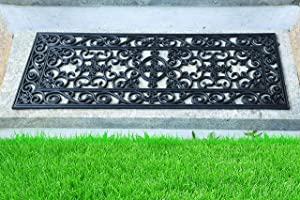 """Iron Gate - Set of 6 - Staircase Step Mat - Outdoor Mats 10"""" x 30"""" - Heavy Duty Vulcanized Rubber Construction - Recommended for Outdoor use"""