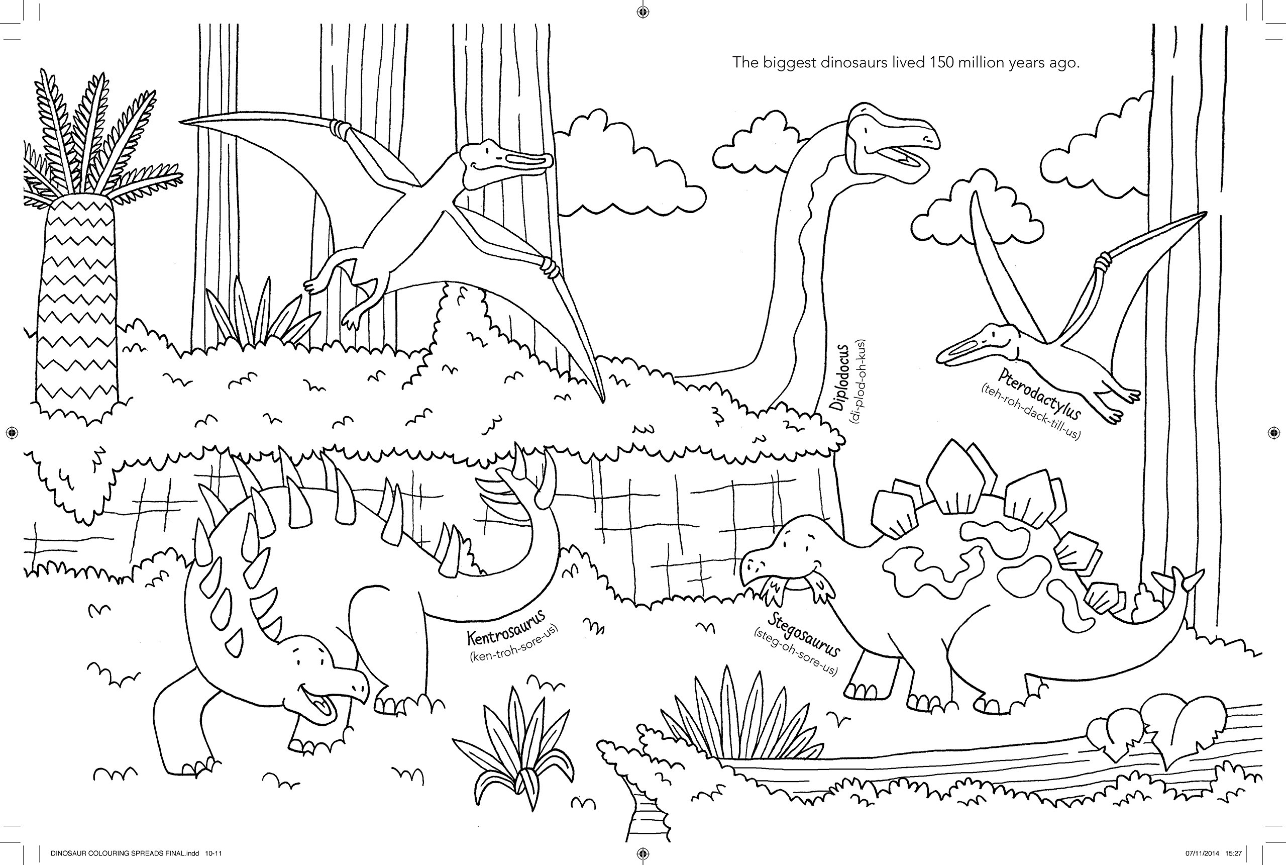 The Dinosaur Colouring Book Jake McDonald 9781780553511 Amazon Books
