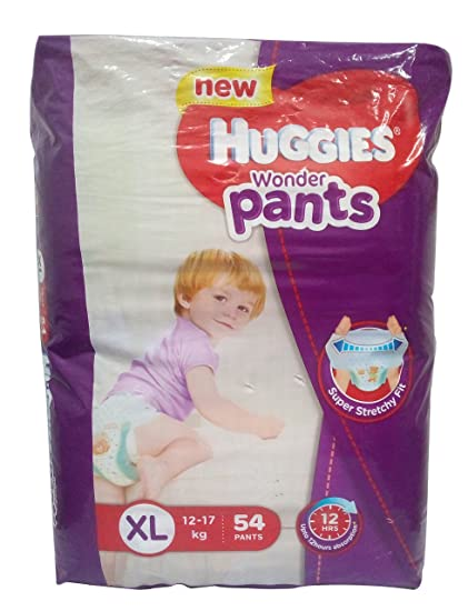 Huggies Wonder Pants   XL  12 17 Kg , 54 Pieces Pack Taped Diapers