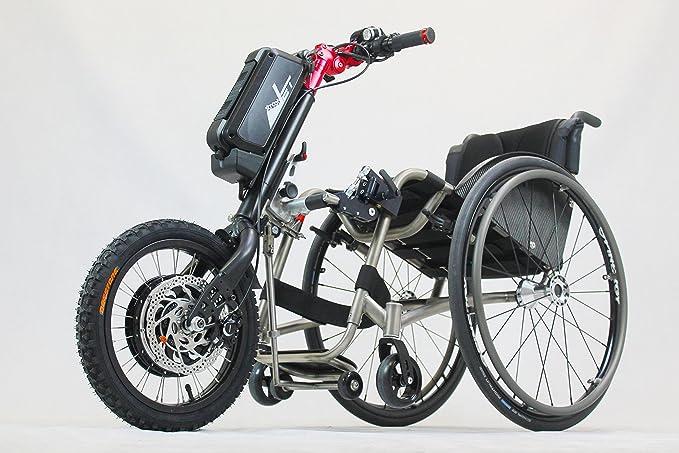 streetjet® 500 W eléctrico silla de ruedas eléctrica Handcycle silla de ruedas. Fijación con el patentado haga clic y Go Sistema de sujeción.