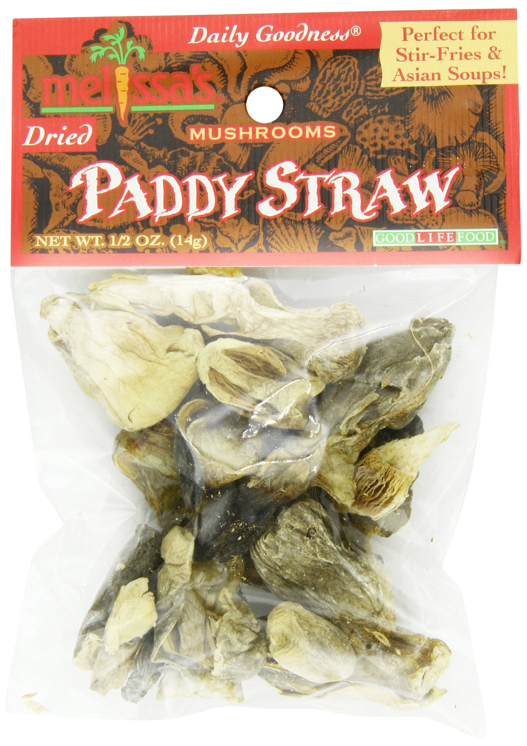 Melissa's Dried Patty Straw Mushrooms 0.5-Ounce Bags (Pack of 12), Dried Wild Mushrooms, Rehydrate and Cook as Fresh or Grind for Crusting Fish or Veal, Great for Cooking and Making Stocks by Melissa's (Image #5)