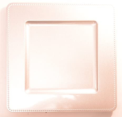 Square Charger Plate Dot Edge - Silver & Amazon.com | Darice 13 in. Square Charger Plate Dot Edge - Silver ...