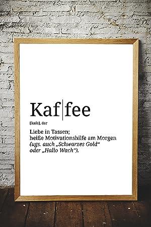 Spruch-Poster Definition | Küche Wohnzimmer WG | Kunstdruck als  Wand-Dekoration für den Bilderrahmen | Duden Wörterbuch Wort-Erklärung