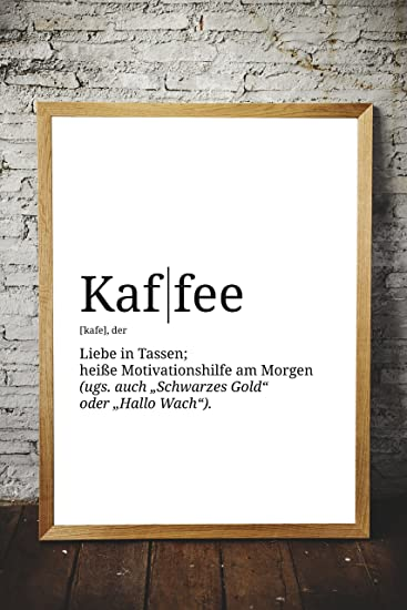 Poster mit Definition | Motiv: Kaffee | Küche Wohnzimmer WG | Poster ...