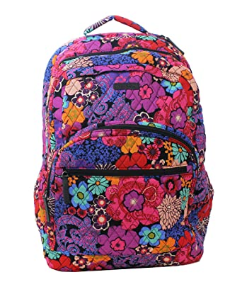 ebfa8f5f2a Image Unavailable. Image not available for. Color  Vera Bradley Floral  Fiesta Essential Large Backpack