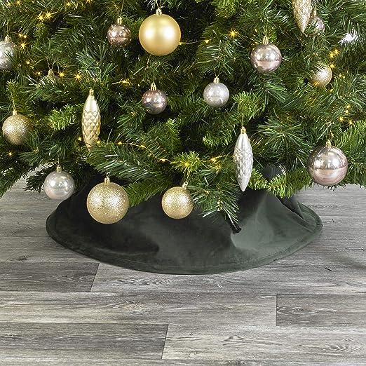 URBNLIVING - Falda de Terciopelo para árbol de Navidad, decoración ...