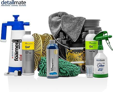 Waschhandschuh Autowasch Set GritGuard 5 Gal Pad Wascheimer Kwazar Foamer