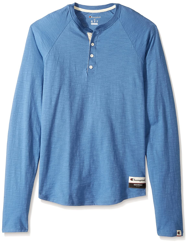 Champion Men's Authentic Originals Long Sleeve Henley Champion Branded Printwear OAO38
