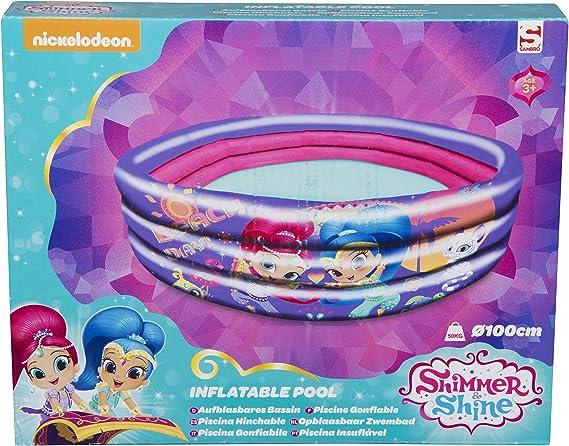 Sambro- Juego de Piscina Inflable de 3 Anillos, Multicolor, 100 x 30 cm (SHI-7076): Amazon.es: Juguetes y juegos