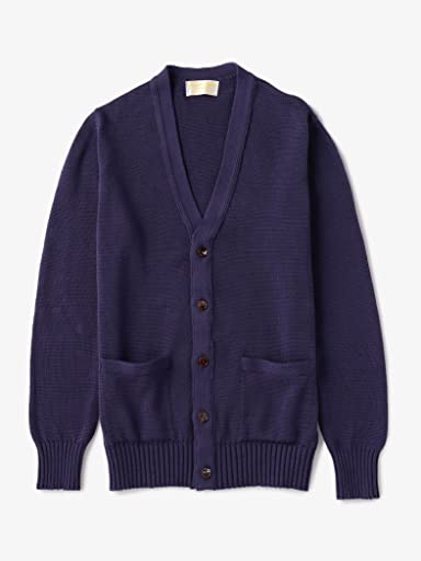 Cotton V-neck Cardigan 1113-343-4155: Purple