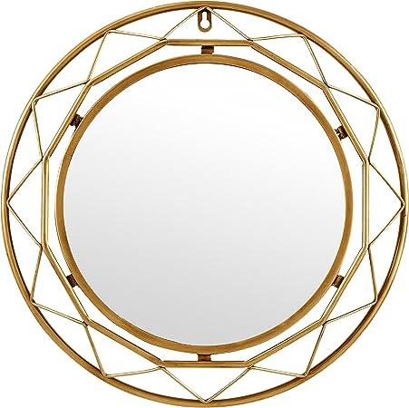 Amazon.com: Rivet - Espejo de metal, Glass, 18