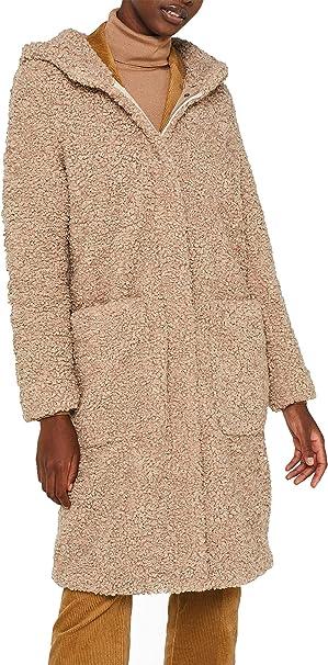 ESPRIT Damen 109Ee1G020 Mantel, Beige (Beige 270), Large