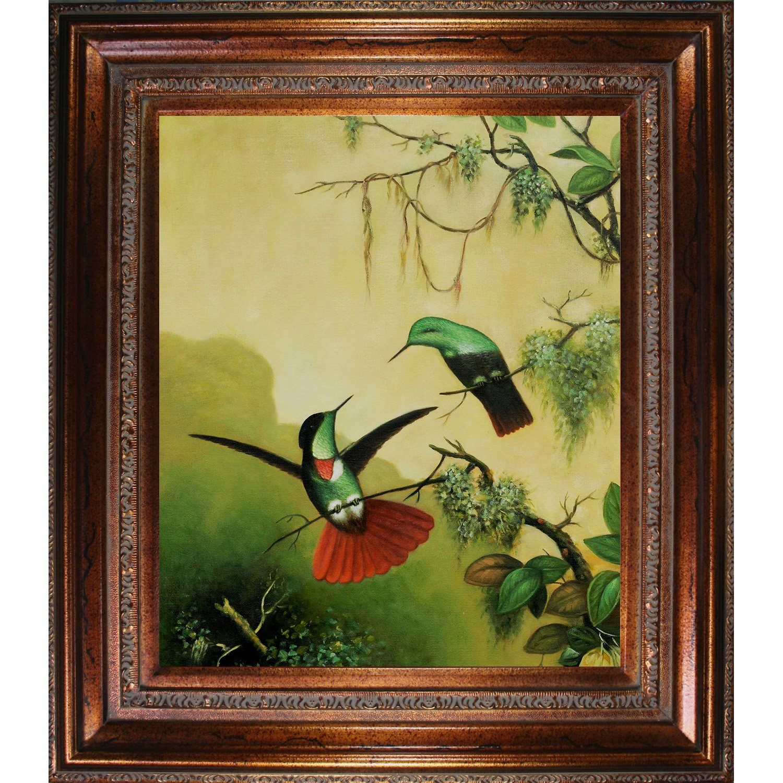 Amazon.com: overstockArt Heade 2 Hooded Visorbearer Hummingbirds Oil ...