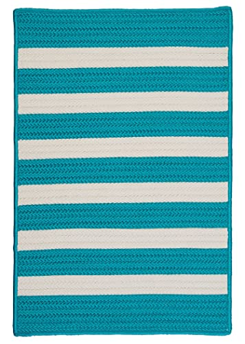 Stripe It Rug, 4 by 6-Feet, Turquoise
