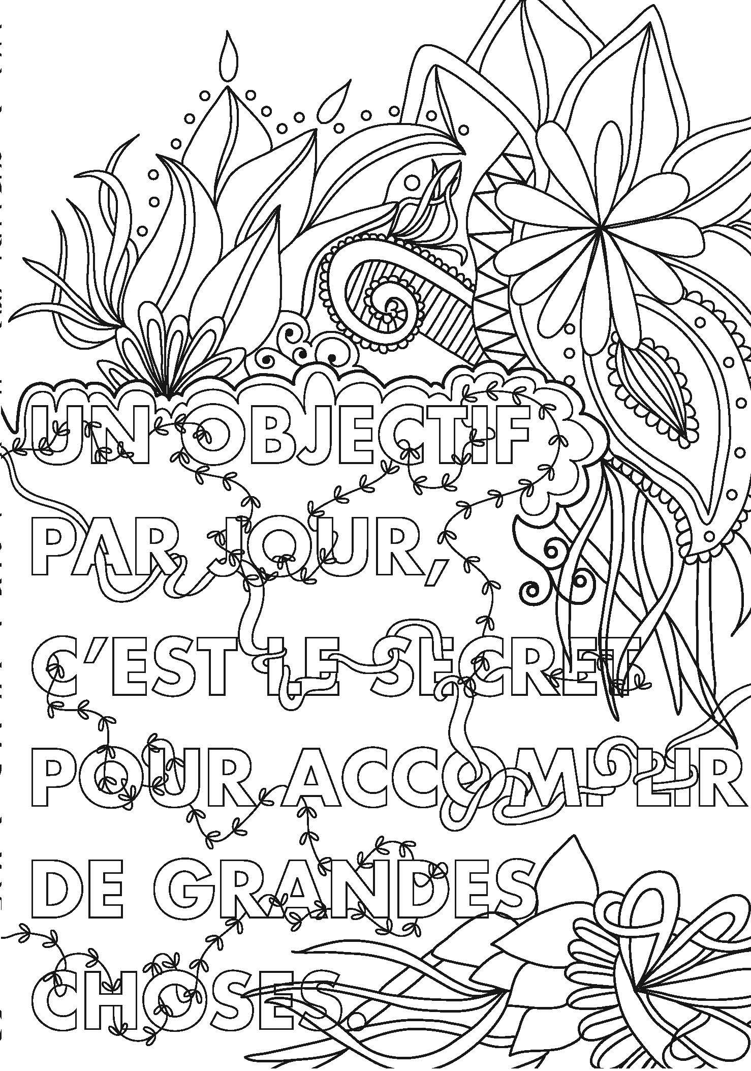 Coloriage adulte message - Dessin a colorier pour adulte ...