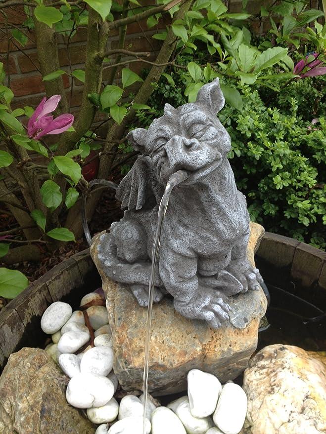 Jardín Figura Gárgola Dragón Figura Figura de piedra para jardín decoración Koi estanques: Amazon.es: Jardín