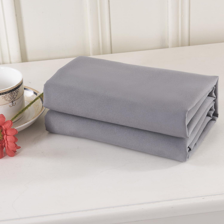 Gray Lullabi Bedding 100% Brushed Microfiber Ultra Soft Pillow Case Set