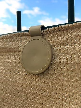 edenvista 20 Clips de fijación para Mallas de ocultación de 90 a 350 g/m2 (Bolsa de 20 Piezas, Sand): Amazon.es: Bricolaje y herramientas