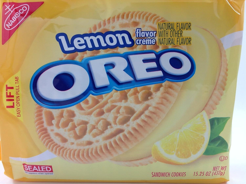 Lemon Flavor Creme Oreo Sandwich Cookies 15.25 oz, Pack of 2