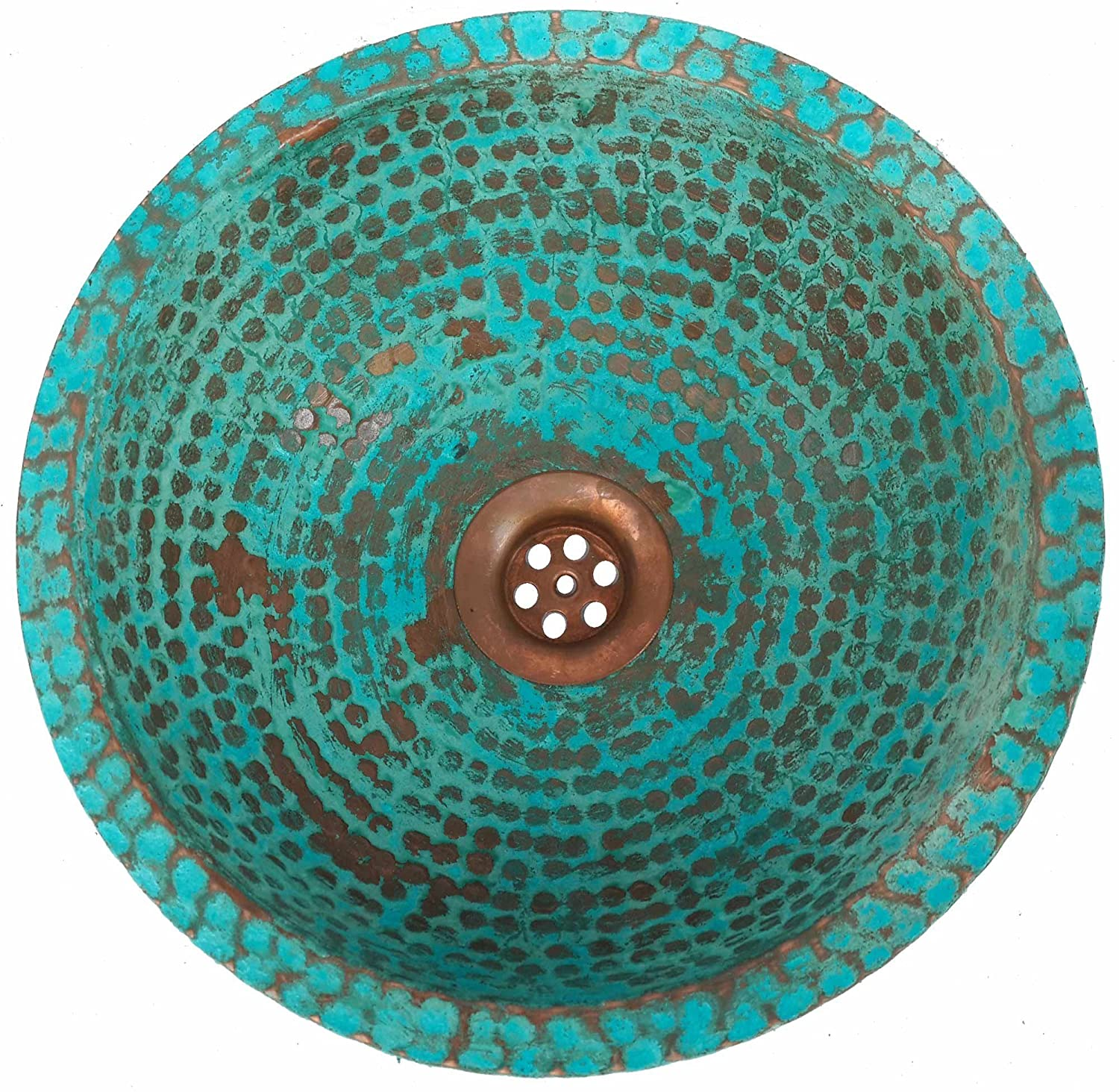 Egypt gift shops Handmade Rustic Dome Turquoise VERY SMALL TINY Vanity Innovative Pure Natural Copper Bathroom Caravan Cabin Motor Van Mobile Home Sink House Remodel Project Contracting