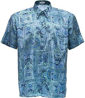 Camisa para hombre de manga corta, tejido de seda tailandesa, con diseño en estampado clásico dorado, dorado, xx-large: Amazon.es: Deportes y aire libre