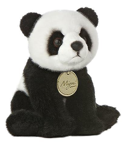 Amazon Com Aurora World Miyoni Panda Bear Plush 8 Toys Games