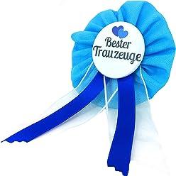 AnneSvea Orden - Bester Trauzeuge Orden blau hellblau Herz Trauung Hochzeit JGA Junggesellinnenabschied Button Geschenk