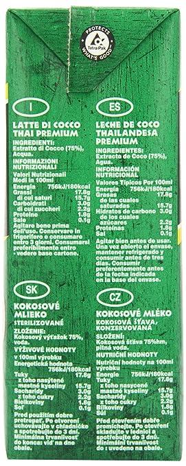 Grace Premium Coconut Milk 1 Litre (Pack of 12): Amazon.es ...