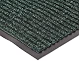 "NoTrax 109 Brush Step Entrance Mat, for Lobbies and Indoor Entranceways, 3' Width x 10' Length x 3/8"" Thickness, Hunter Green"