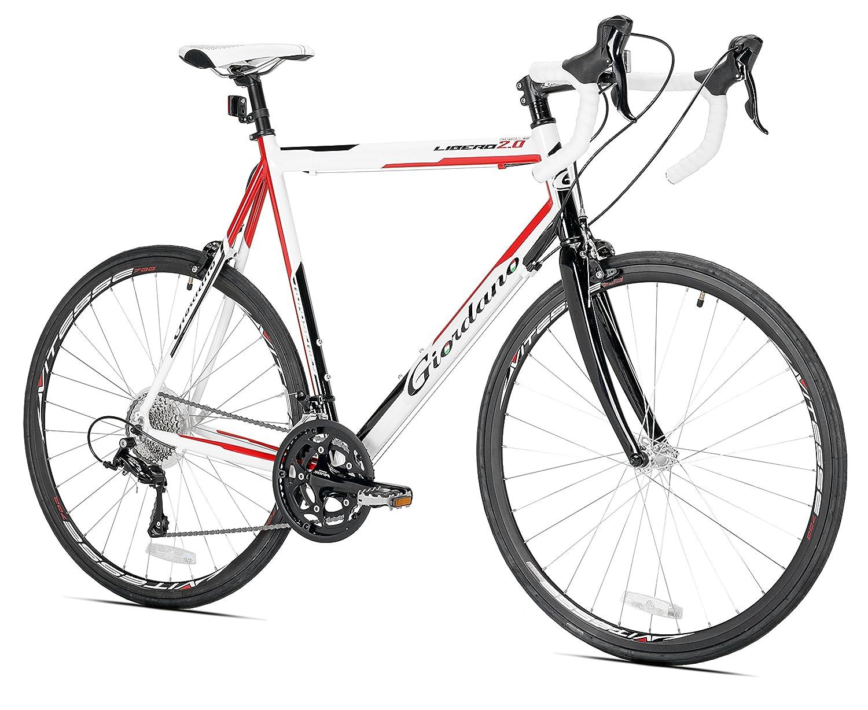 b27f2e00f3f Amazon.com : Giordano Libero 2.0 Road Bike, Large, White : Sports & Outdoors