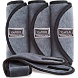 Makeup Remover Cloth by YouAreUs. 3 Pack Premium Face Wash Towels with Bonus Spa Headband & Cosmetic Bag. Eco Friendly…