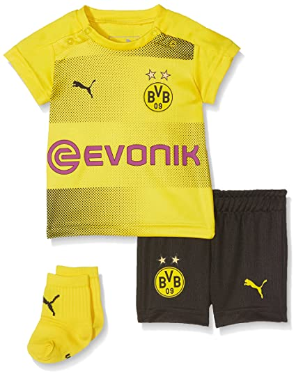 d7bad18ec1f Amazon.com   PUMA 2017-2018 Borussia Dortmund Home Baby Kit   Sports    Outdoors