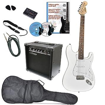 Clifton a050788 guitarras de Juego con DVD de aprendizaje, karaoke, CD Songbook, amplificador