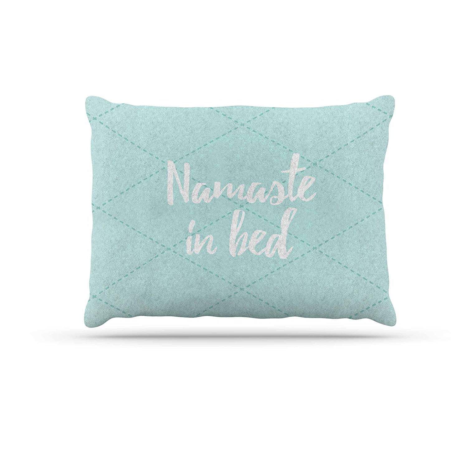 KESS InHouse Kess Original Namaste in Bed Teal bluee White Dog Bed, 30  x 40