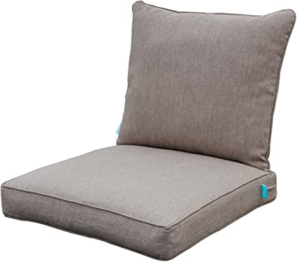 Amazon Com Qilloway Outdoor Chair Cushion Set Outdoor Cushions For Patio Furniture Tan Grey Garden Outdoor