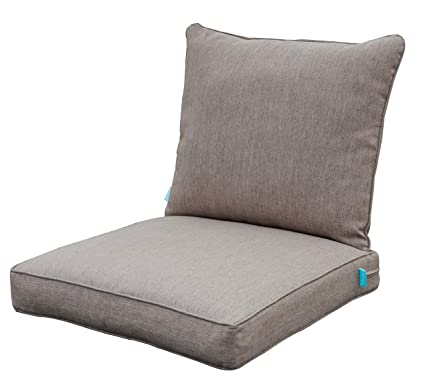 Prime Qilloway Outdoor Chair Cushion Set Outdoor Cushions For Patio Furniture Tan Grey Machost Co Dining Chair Design Ideas Machostcouk
