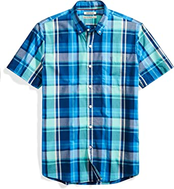 Marca button-down-shirts Hombre Goodthreads Standard-fit Short-sleeve Large-scale Plaid Shirt