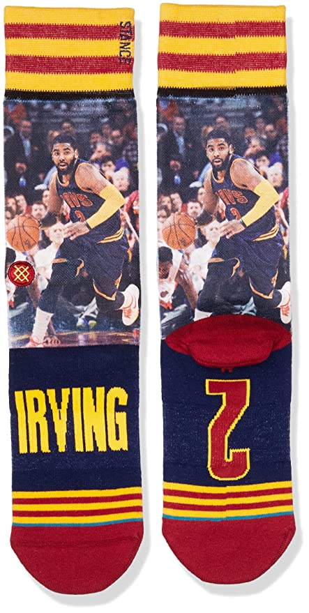 Stance Mens Kyrie Irving Crew Sock, Yellow, L at Amazon Mens Clothing store: