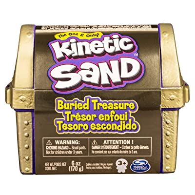 Kinetic Sand, Buried Treasure Playset with 170g of Kinetic Sand and Surprise Hidden Tool (Style May Vary): Toys & Games