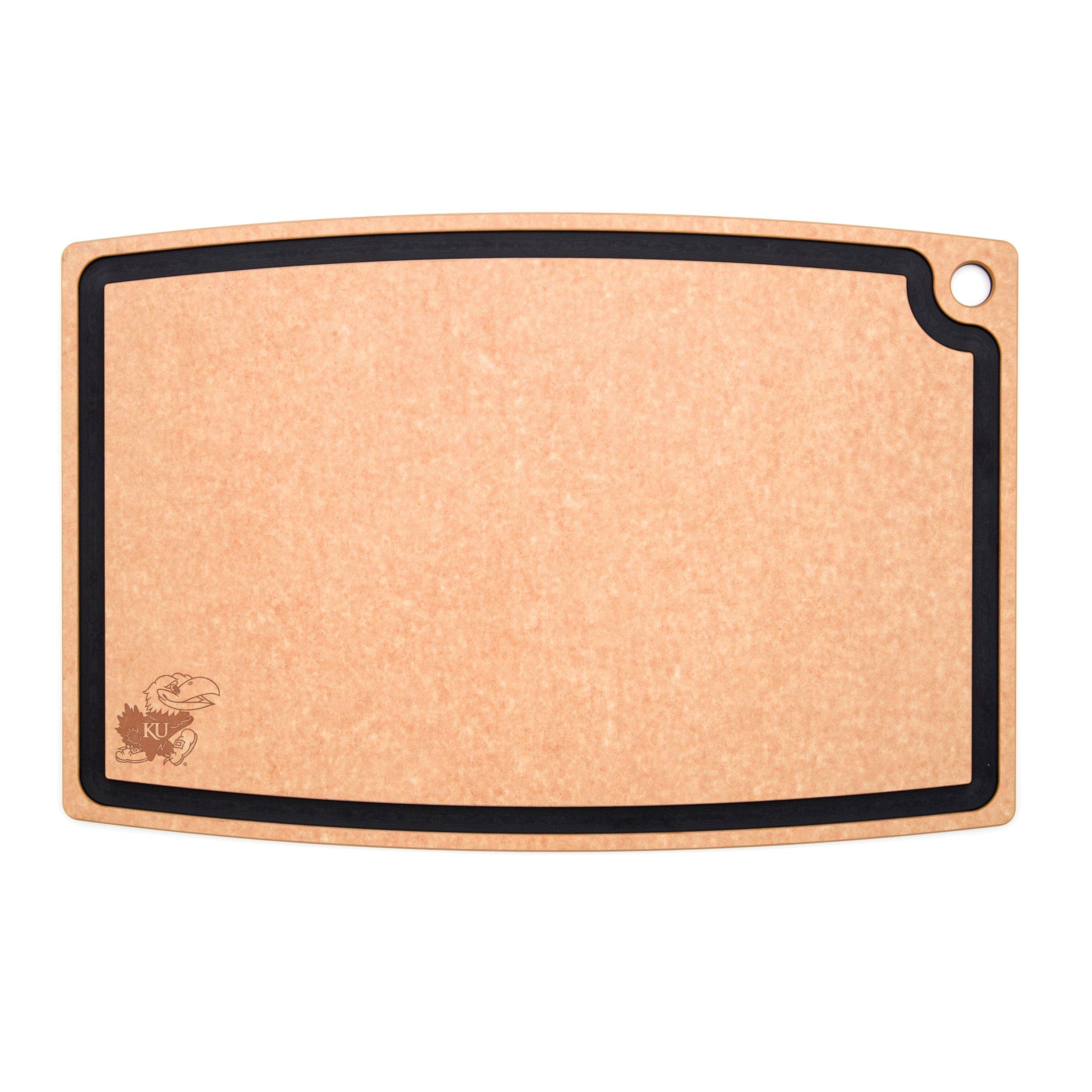 Epicurean C006-27180102-UKS University of Kansas Jayhawks Carving/Bbq Board, 27'' x 18'', Natural/Slate