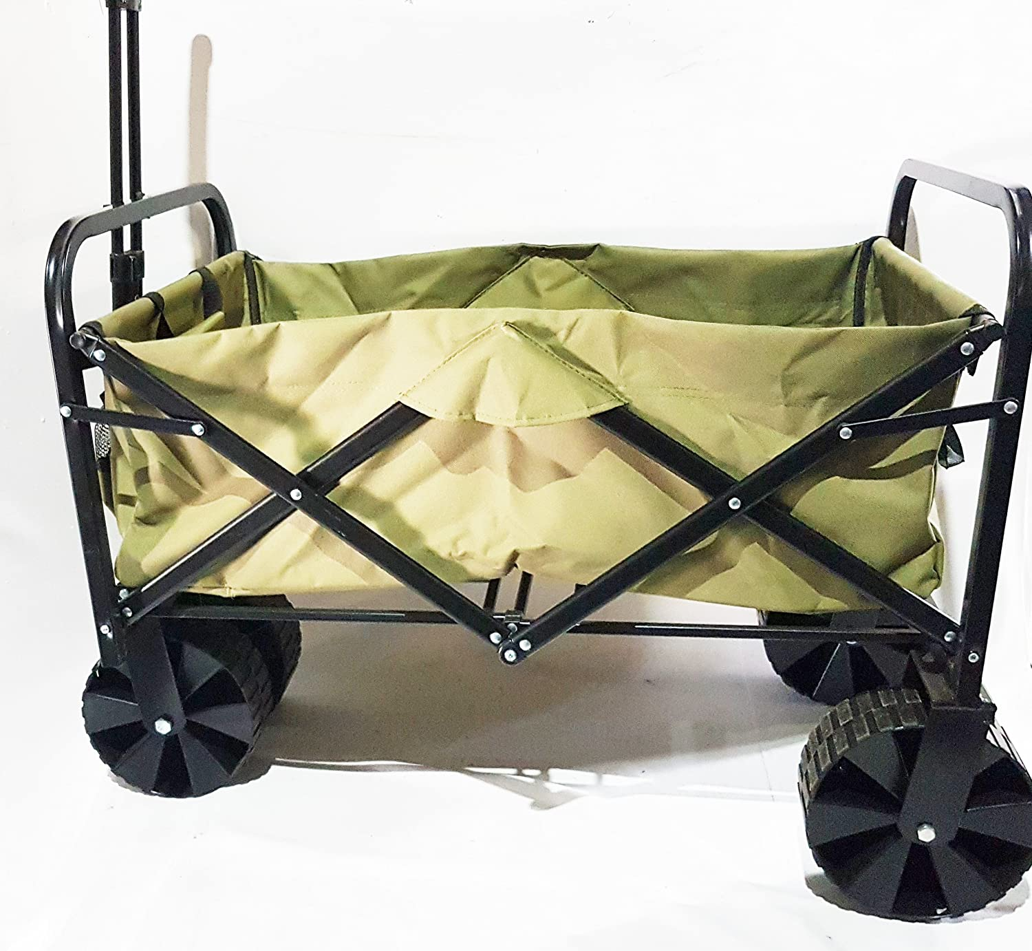 Large Orange Imports WAG02 Green Large Festival Trolley Barrow