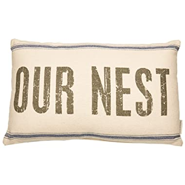 Primitives by Kathy Distressed Light Throw Pillow 25 x 15-Inches Our Nest