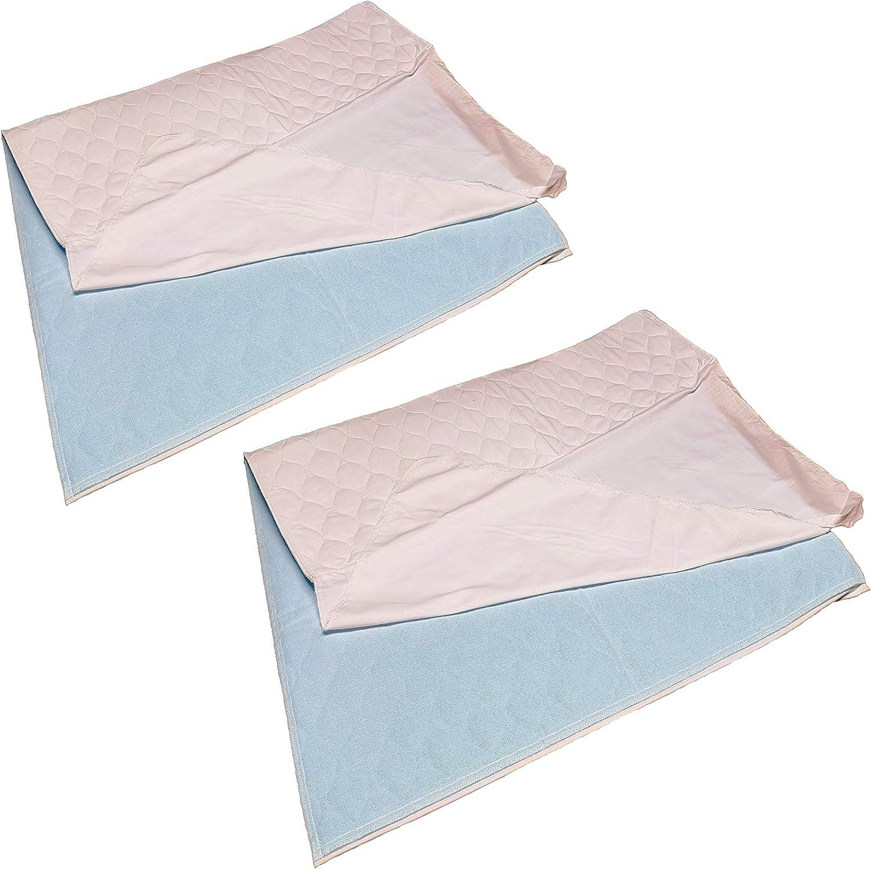 waschbar Inkontinenzunterlage Verschiedene Gr/ö/ßen 45 x 75 cm TODA 2er Pack Matratzenauflage Inkontinenzauflage Saugvlies wasserdicht