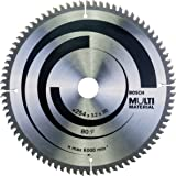 Bosch 2608640450 Lame de scie circulaire Multi Material 80 dents 254 x 30 x 3,2 mm